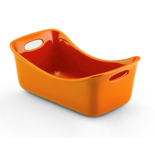 Rachael Ray Stoneware Orange Loaf Pan (9 x 5)