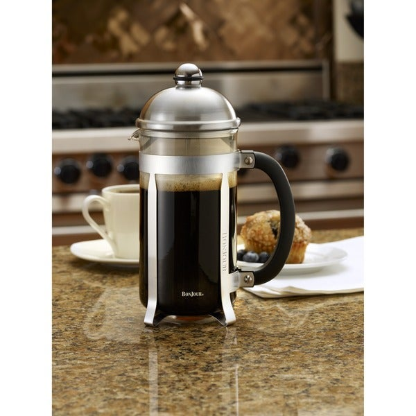BonJour Coffee 8-cup Stainless Steel Maximus French Press 10169167