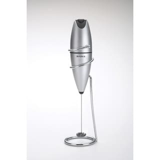 BonJour Coffee Stainless Steel Oval Milk Frother with Stand