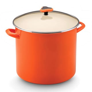 Rachael Ray Enamel on Steel Orange 16-quart Covered Stockpot