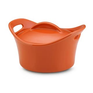 Rachael Ray Stoneware Orange 18-oz Covered Mini Souped Up Bowl