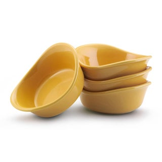Rachael Ray Stoneware Yellow 3-oz Lil' Saucy Dipping Cups (Set of 4)