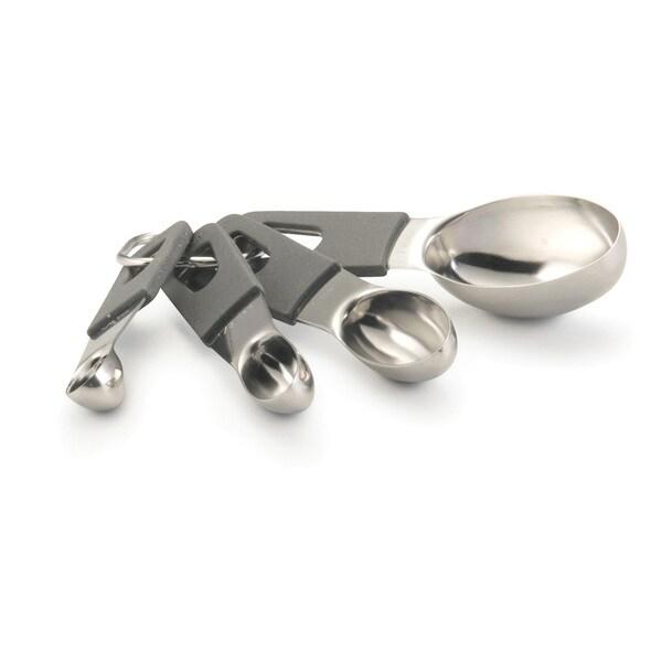 Anolon Gadgets 4-piece Grey Measuring Spoons Set