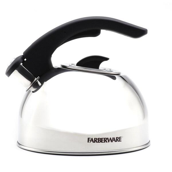 Farberware 'Larkspur' Stainless Steel 2-quart Tea Kettle