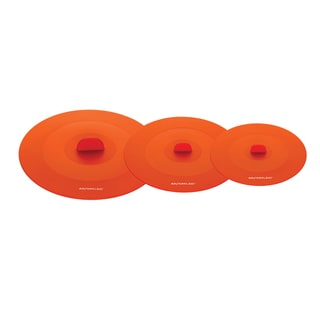 Rachael Ray Tools and Gadgets Orange 3-piece Suction Lid Set