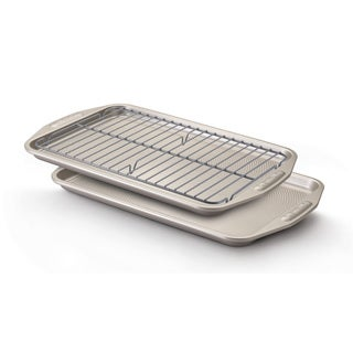 Circulon Bakeware 3-piece Cookie Pans with Cooling Rack Set