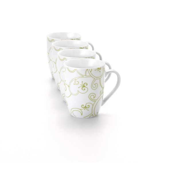 Rachael Ray Dinnerware Curly-Q 4-piece Mug Set