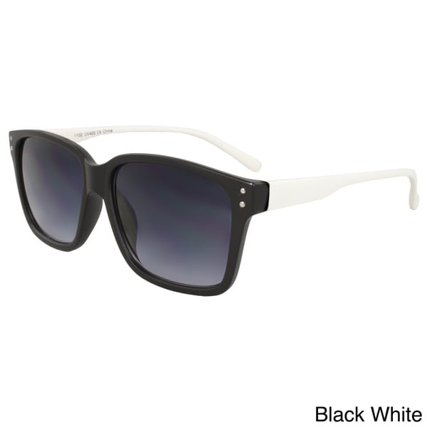 Unisex Two-tone Soft-touch Plastic Sunglasses