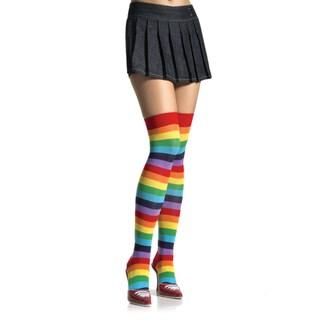 Leg Avenue Women's Rainbow Knit Thigh Highs