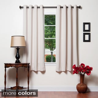 Grommet Top Thermal Insulated 72-inch Blackout Curtain Panel Pair