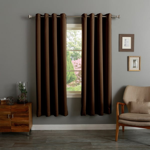 Aurora Home Grommet Top Thermal Insulated 72 Inch Blackout Curtain Panel Pair 14918209
