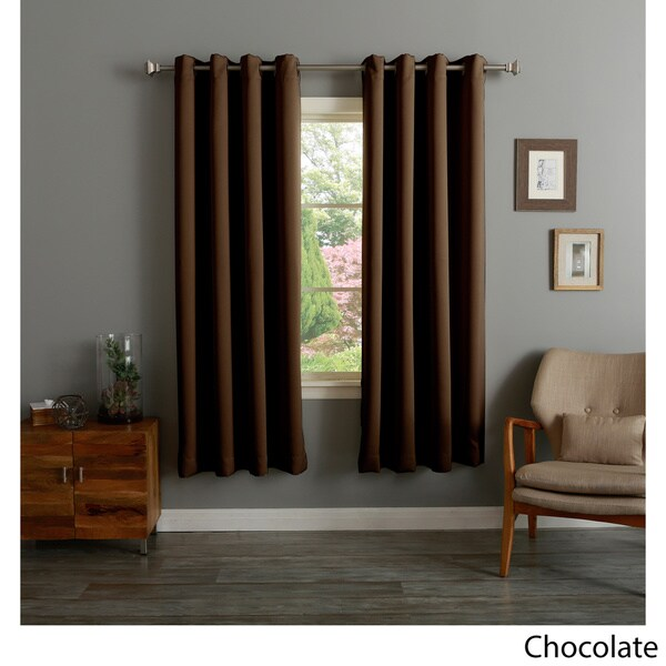 Lights Out Grommet Top Thermal Insulated 72inch Blackout Curtain Panel ...