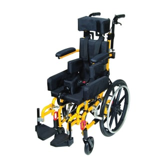 Wenzelite Rehab Kanga TS Pediatric Yellow Tilt In Space Wheelchair