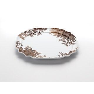 Paula Deen Signature Dinnerware Tatnall Street 13.25-Inch Brown Square Platter