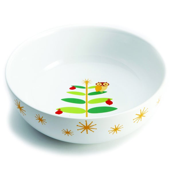 Rachael Ray Holiday Hoot 10-inch Serving Bowl 10171253