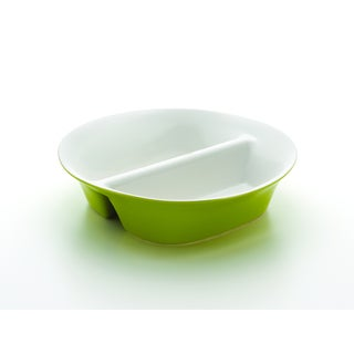 Rachael Ray Round and Square 12-inch Green Divided Dish