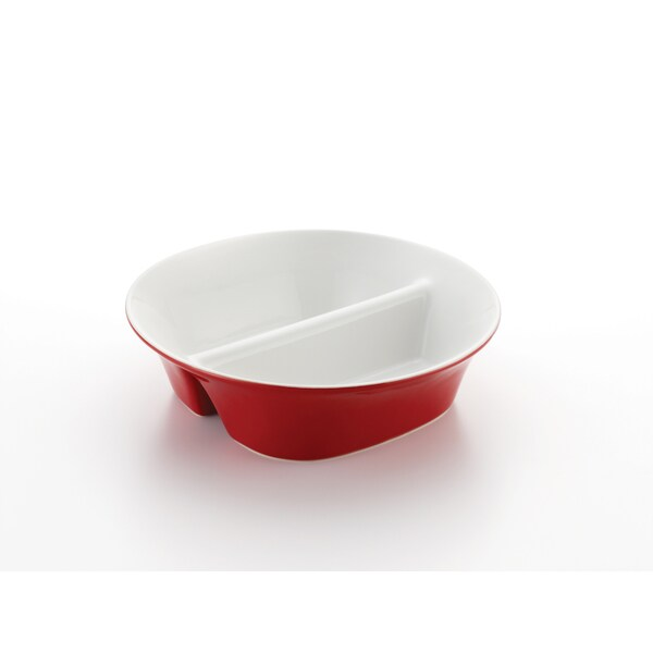 Rachael Ray Round & Square 12-inch Red Divided Dish 10171257