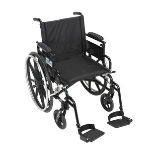 Drive Medical Viper Plus GT Wheelchair with Flip Back Adjustable Arms
