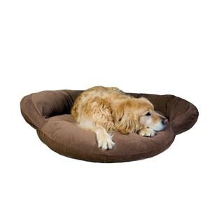 Carolina Pet Chocolate Brown Velvet Microfiber Bolster Pet Bed