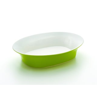 Rachael Ray Round & Square Green 14-Inch Oval Serving Bowl