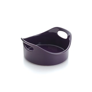 Rachael Ray Stoneware 2-quart Purple Round Open Baker