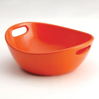 Rachael Ray Stoneware 10-Inch Orange Veggie Bowl