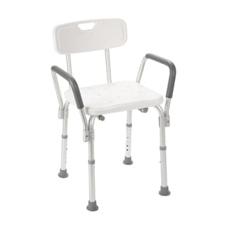Drive Medical Bath Bench with Back and Removable Padded Arms