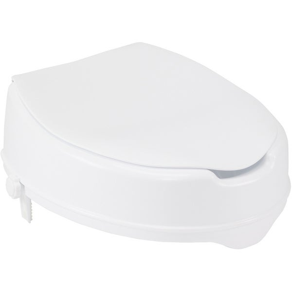 Drive Medical 4-inch Raised Toilet Seat with Lock, Lid, and Standard Seat