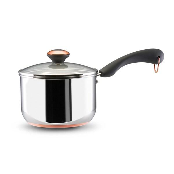 Paula Deen Signature Stainless Steel Cookware 2-Quart Covered Saucepan