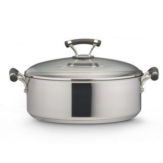 Circulon Contempo Stainless Steel 7.5-Quart Covered Wide Stockpot