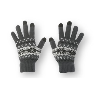 Solegear Women's Touch Screen Crystal Grey Smart Gloves
