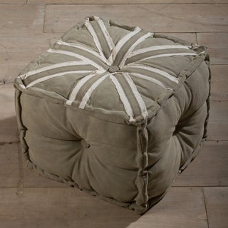 Union Jack Army Canvas Pouf Ottoman (India)