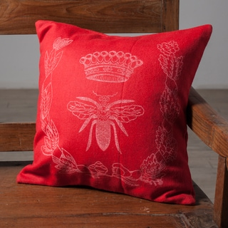 Queen Bee Red Accent Pillow (India)