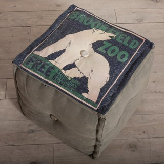 Brookfield Zoo Polar Bear Canvas Pouf Ottoman (India)