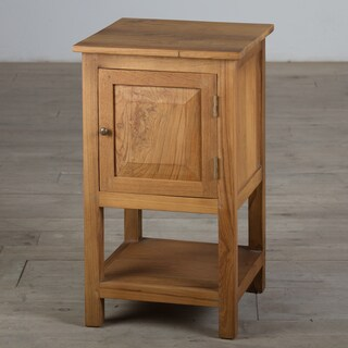 One-Door Teak Nightstand (India)