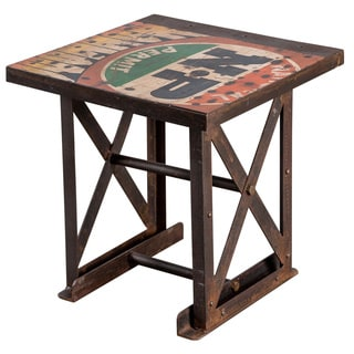 Iron Freight Truck Side Table (India)