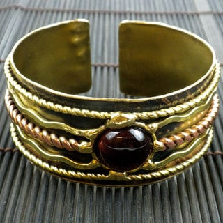 Brass Red Tigers Eye Focus Cuff (South Africa)