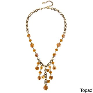 Alexa Starr Faceted Glass Twist Bead Bib Necklace