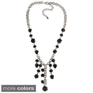 Alexa Starr Faceted Glass Twist Bead Bib Necklace