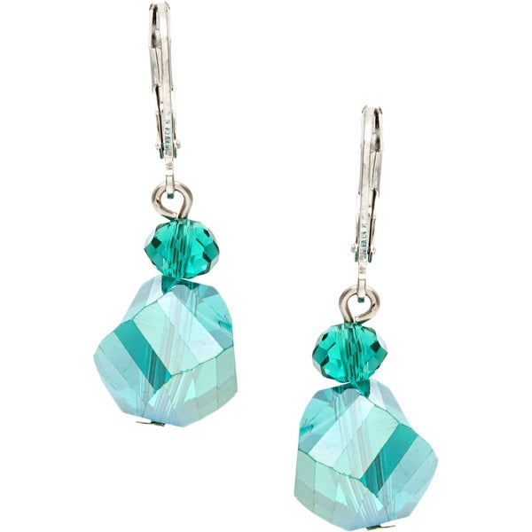 Alexa Starr Faceted Glass Twist Bead Earrings