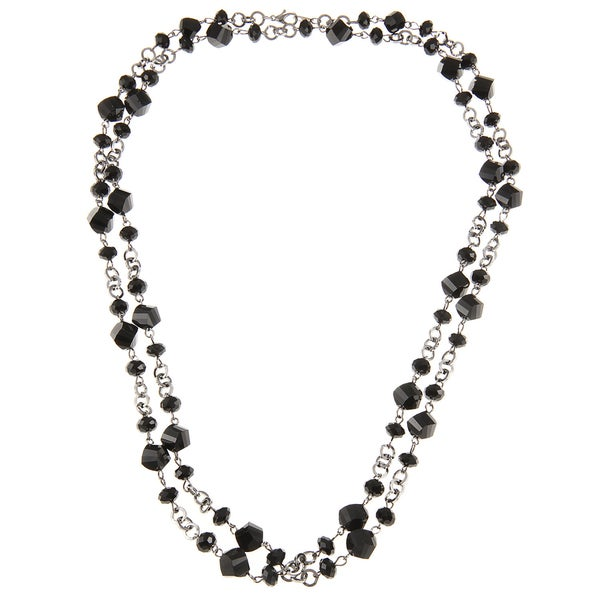 Alexa Starr Faceted Glass Twist Bead Long Necklace