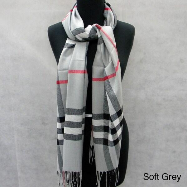 Plaid Fringed Pashmina Fashion Scarf/Wrap/Shawl