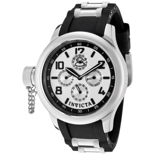 Invicta Women's 'Russian Diver' Black Polyurethane Watch