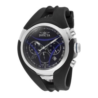Invicta Men's 'S1/Nitro' Black Polyurethane Watch