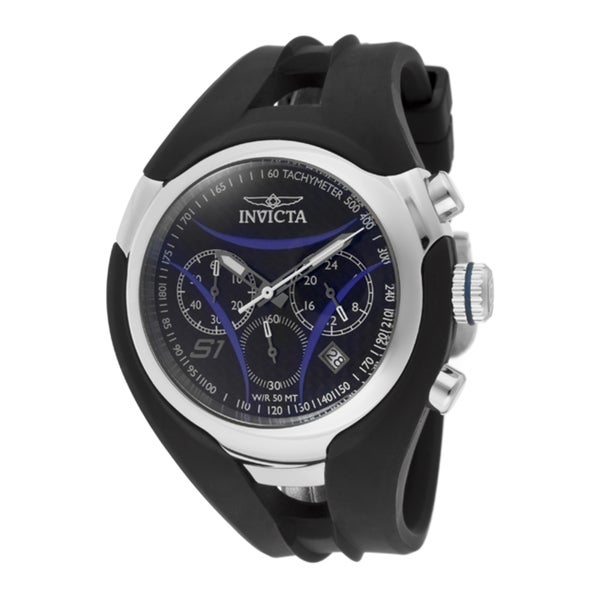 Invicta Men's 'S1/Nitro' Black Polyurethane Watch