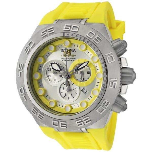 Invicta Men's 'Subaqua/Sports' Yellow Silicone Watch