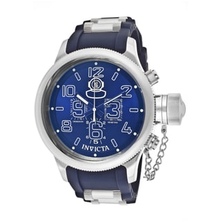 Invicta Men's 'Russian Diver' Blue Polyurethane Watch