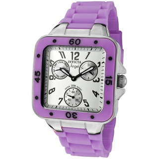 Invicta Women's 'Angel' Neon Purple Rubber Watch