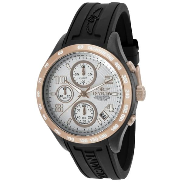 Invicta Women's 'Specialty' Black Polyurethane Watch
