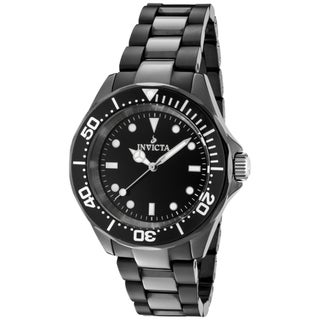 Invicta Unisex 'Ceramics' Black Ceramic Watch